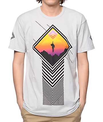 Imaginary Foundation Utopian Sunset Silver T-Shirt