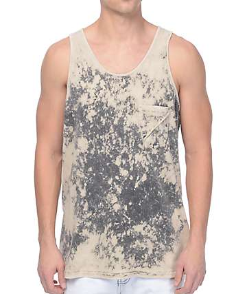 Imperial Motion Badge Acid Grey Tank Top