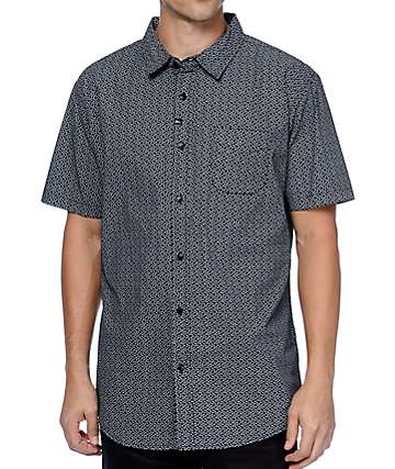 Imperial Motion Branch Black Woven Shirt