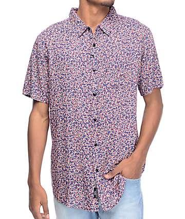 Imperial Motion Clark camisa floral en azul marino