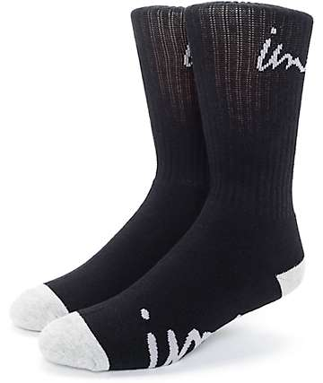 Imperial Motion Curser Black & Grey Crew Socks