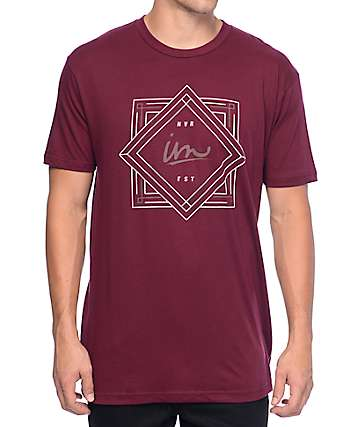 Imperial Motion Deco Burgundy T-Shirt