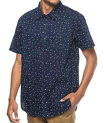 Imperial Motion Dobby camisa en azul marino
