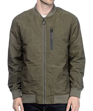 Imperial Motion Jackson Army Green Bomber Jacket