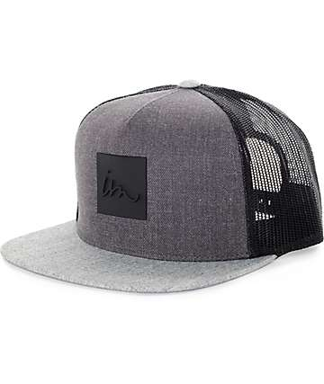 Imperial Motion Lark Heather Charcoal, Grey, and Black Trucker Hat