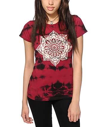 Imperial Motion Mandala Burgundy Tie Dye T-Shirt