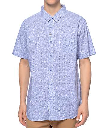 Imperial Motion Micro Blue Woven Button Up Shirt
