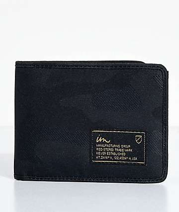 Imperial Motion Patent Black Camo Bifold Wallet