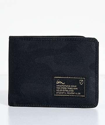 Imperial Motion Patent cartera plegable en negro camuflado
