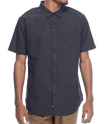 Imperial Motion Pick Up Black Short Sleeve Button Up Shirt