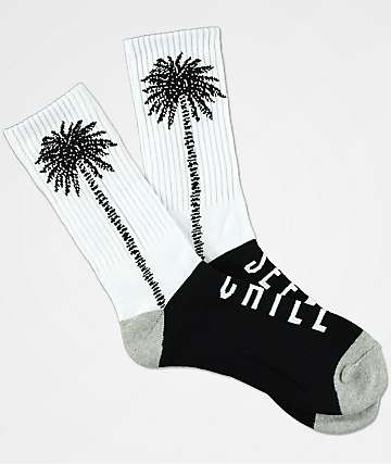 Imperial Motion Seeker Palm Black & White Crew Socks