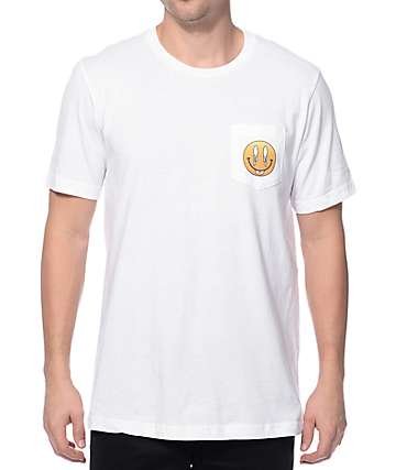 Imperial Motion Smile Tongue White Pocket T-Shirt
