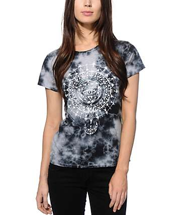 Imperial Motion Sunburst Grey Tie Dye T-Shirt