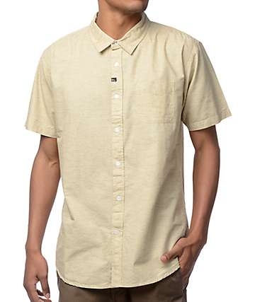 Imperial Motion Triumph Melange Tan Button Up Shirt
