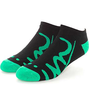 Imperial Motion Underline Black & Green Ankle Socks