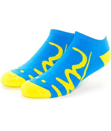 Imperial Motion Underline Blue & Yellow Ankle Socks
