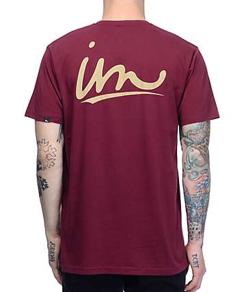 Imperial Motion Underline Maroon T-Shirt