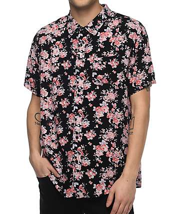 Imperial Motion Vacay Floral Woven Button Up Shirt