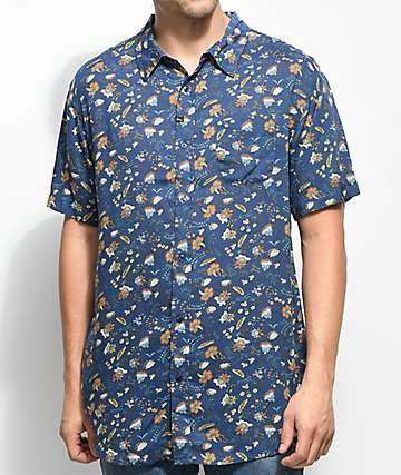 Imperial Motion Vacay Midnight Woven Button Up Shirt