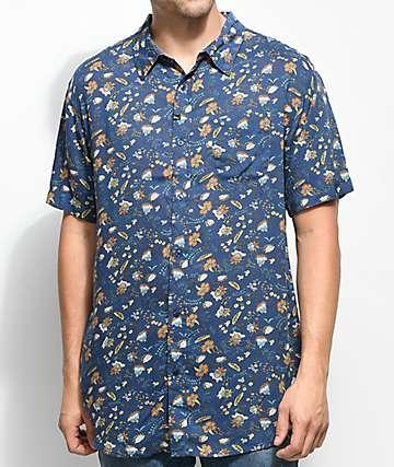Imperial Motion Vacay camisa tejida en azul marino