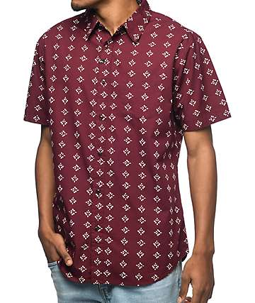 Imperial Motion Warner camisa en color vino