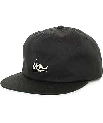 Imperial Motion Warp Black Strapback Hat