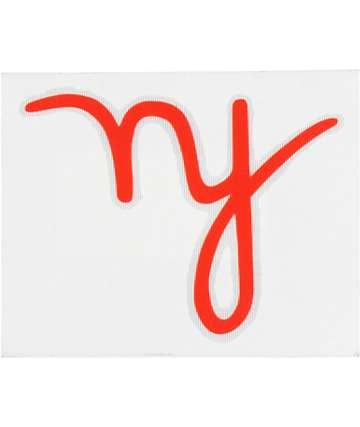 In4mation NY Script Die Cut Sticker