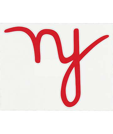 In4mation NY Script Large Die Cut Sticker