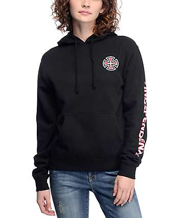 Independent Bar Cross Black Hoodie