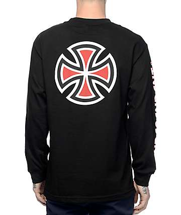 Independent Bar Cross Black Long Sleeve T-Shirt