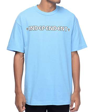 Independent Bar Cross Carolina Blue T-Shirt