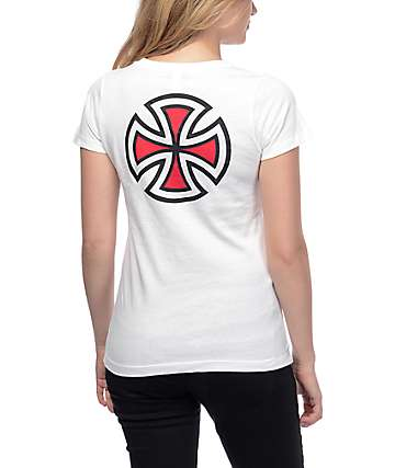 Independent Bar Cross White T-Shirt