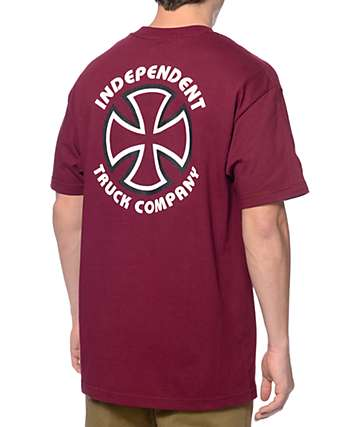 Independent Classic Bauhaus Burgundy T-Shirt