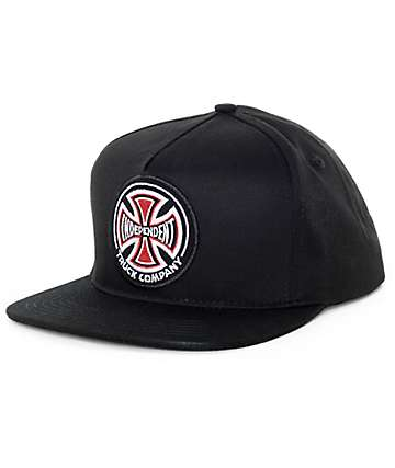 Independent Patch Black Snapback Hat