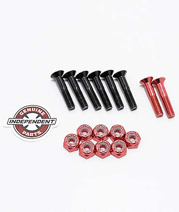 "Independent Red Crossbolts 1"" Skateboard Hardware"