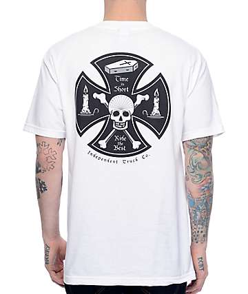 Independent Time Is Short White T-Shirt