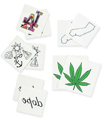 Inked Cali Pack Temporary Tattoos