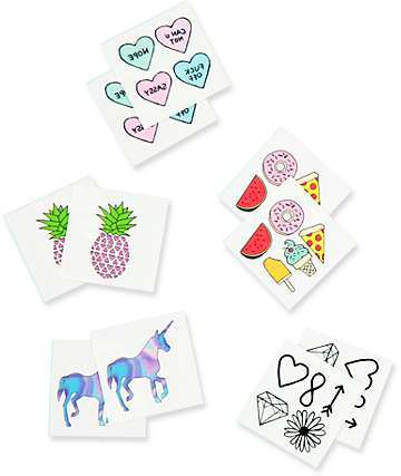 Inked Sassy Pack Temporary Tattoos