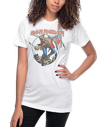 Iron Maiden Burst Trooper White T-Shirt