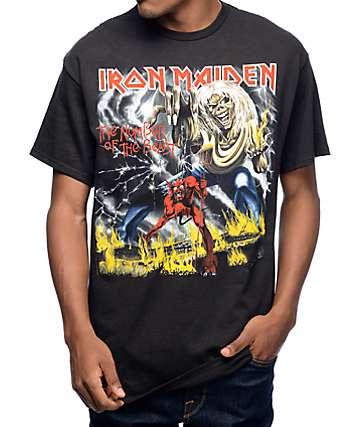 Iron Maiden Number Of The Beast camiseta negra