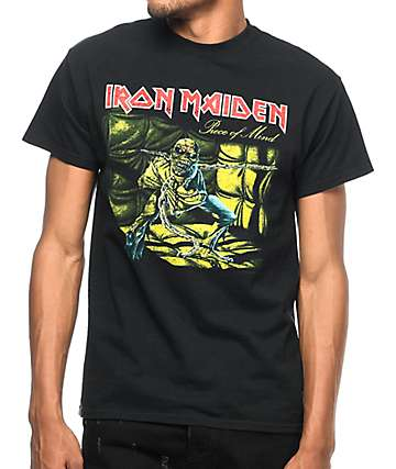 Iron Maiden Piece Of Mind Black T-Shirt