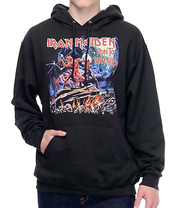 Iron Maiden Run To The Hills Black Hoodie