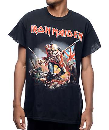 Iron Maiden Trooper Black Cut Off T-Shirt