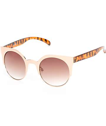 Ivy Tortoise & Gold Retro Sunglasses