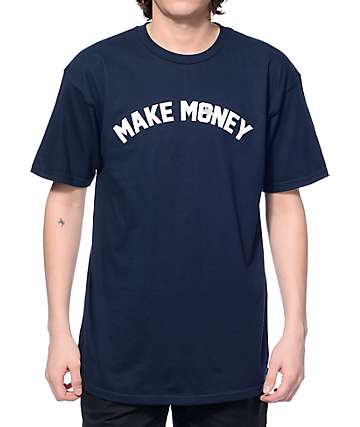 J. By Jasper Make Money Navy T-Shirt