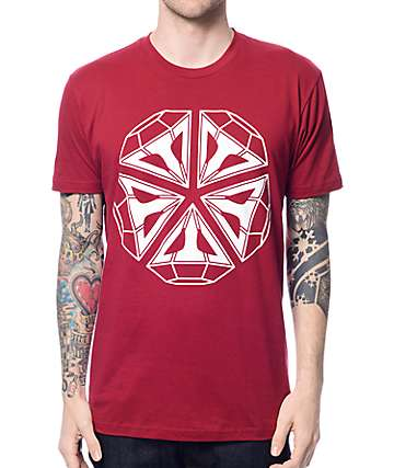 JBRD Roc Diamond Maroon T-Shirt