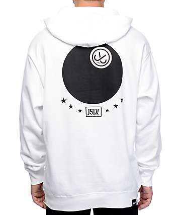 JSLV J-Ball White Fleece Hoodie