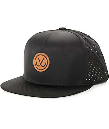 JSLV Perforated Black Trucker Hat