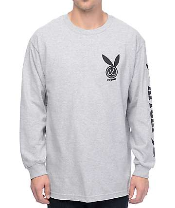 JSLV Playa Heather Grey Long Sleeve T-Shirt