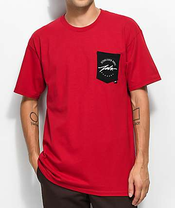 JSLV Round Select Pocket Red T-Shirt